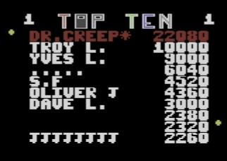 Topscore of DrCreep