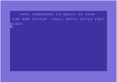 Power-up message of a Commodore 64