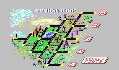 Map Out A Run Out Run (US)   C64 Wiki