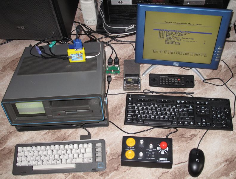 File:Datei-Chameleon 64 - SX-64 - VGA-Monitor - Joystick - CDTV - Docking-Station - Keyboard - Mouse.JPG