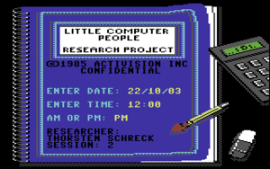 Start screen from Little Computer People