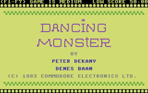 Title screnn from Dancing Monster