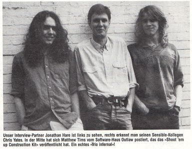 The developer team: Jonathan Hare and Chris Yates (1988)