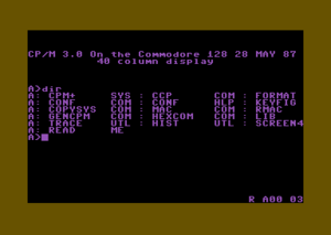CP/M 3.0 running on a C128 in 40 column mode.