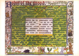"Map for the game ""Robin of the Wood"" - (click for larger image)"