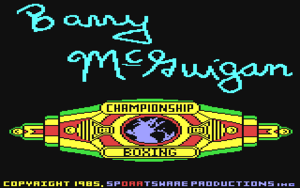 Barry McGuigan title screen