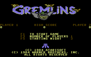 Title screen of Gremlins