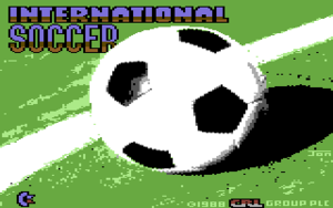 Title image of the rerelease (CRL) of International Soccer