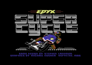 Super Cycle title screen