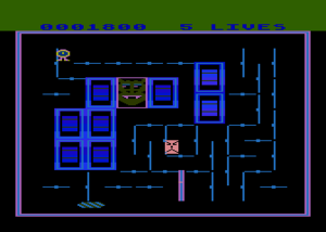 The Atari 8-bit version shines with slightly faster gameplay, but has reduced colours and in return (of course) shriller sound.
