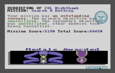 Topscore of Nighthawk