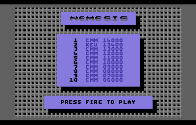 Nemesis (British Software) - C64-Wiki