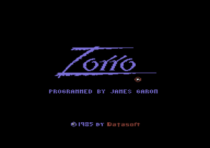 Zorro title screen