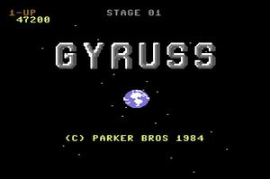 Gyruss title screen