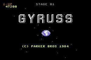 Gyruss title screen